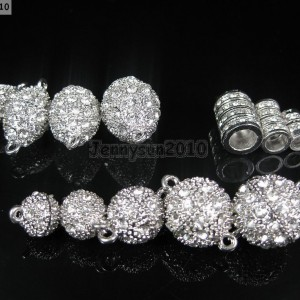 10-Set-Crystal-Rhinestone-Strong-Magnetic-Connector-Clasp-For-Bracelet-Necklace-370912731583