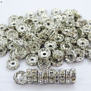 100-Czech-Crystal-Rhinestone-Pewter-Rondelle-Spacer-Beads-4mm-5mm-6mm-8mm-10mm-370892912743-2