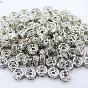 100-Czech-Crystal-Rhinestone-Pewter-Rondelle-Spacer-Beads-4mm-5mm-6mm-8mm-10mm-370892912743-8bdb