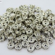 100-Czech-Crystal-Rhinestone-Pewter-Rondelle-Spacer-Beads-4mm-5mm-6mm-8mm-10mm-370892912743-b4b5