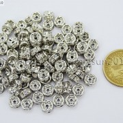 100-Czech-Crystal-Rhinestone-Pewter-Rondelle-Spacer-Beads-4mm-5mm-6mm-8mm-10mm-370892912743-ba50