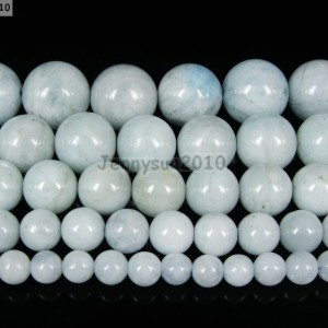 100-Natural-Aquamarine-Gemstone-Round-Beads-155-4mm-6mm-8mm-10mm-12mm-14mm-261340292731