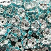 100Pcs-Czech-Crystal-Rhinestone-Wavy-Rondelle-Spacer-Beads-4mm-5mm-6mm-8mm-10mm-251089093224-13bb