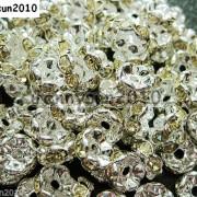 100Pcs-Czech-Crystal-Rhinestone-Wavy-Rondelle-Spacer-Beads-4mm-5mm-6mm-8mm-10mm-251089093224-96e6