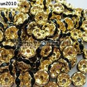 100Pcs-Czech-Crystal-Rhinestone-Wavy-Rondelle-Spacer-Beads-4mm-5mm-6mm-8mm-10mm-251089093224-ef57