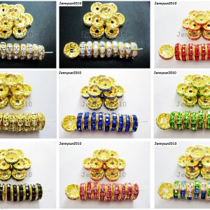 100Pcs-Czech-Crystal-Rhinestones-Gold-Rondelle-Spacer-Beads-4mm-5mm-6mm-8mm-10mm-261044485528