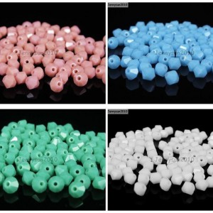 100Pcs-Top-Quality-Czech-Crystal-Bicone-Beads-Exclusive-3mm-4mm-Opaque-Colors-370984651956