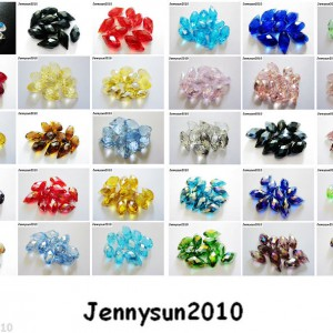 100Pcs-Top-Quality-Czech-Crystal-Faceted-Briolette-Beads-6mm-x-12mm-Pick-Colors-261024404729