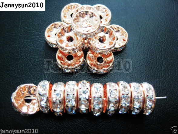 100pcs-Czech-Crystal-Rhinestone-Rose-Gold-Rondelle-Spacer-Beads-5mm-6mm-8mm-10mm-261044012322