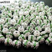 100pcs-Czech-Crystal-Rhinestones-Pave-Diamante-Round-Spacer-Beads-6mm-8mm-10mm-251087497248-2ecd