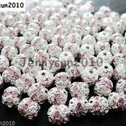 100pcs-Czech-Crystal-Rhinestones-Pave-Diamante-Round-Spacer-Beads-6mm-8mm-10mm-251087497248-508c
