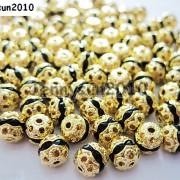 100pcs-Czech-Crystal-Rhinestones-Pave-Diamante-Round-Spacer-Beads-6mm-8mm-10mm-251087497248-78b3