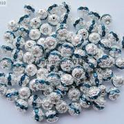 100pcs-Czech-Crystal-Rhinestones-Pave-Diamante-Round-Spacer-Beads-6mm-8mm-10mm-251087497248-88db