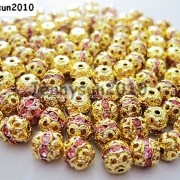100pcs-Czech-Crystal-Rhinestones-Pave-Diamante-Round-Spacer-Beads-6mm-8mm-10mm-251087497248-bae8