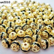 100pcs-Czech-Crystal-Rhinestones-Pave-Diamante-Round-Spacer-Beads-6mm-8mm-10mm-251087497248-bf5d