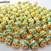 100pcs-Czech-Crystal-Rhinestones-Pave-Diamante-Round-Spacer-Beads-6mm-8mm-10mm-251087497248-da23