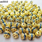 100pcs-Czech-Crystal-Rhinestones-Pave-Diamante-Round-Spacer-Beads-6mm-8mm-10mm-251087497248-dba2