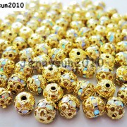 100pcs-Czech-Crystal-Rhinestones-Pave-Diamante-Round-Spacer-Beads-6mm-8mm-10mm-251087497248-ef92