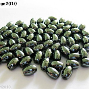 100pcs-Natural-Black-Jet-Hematite-Gemstone-Rice-Spacer-Beads-4mm-6mm-8mm-12mm-261042959319