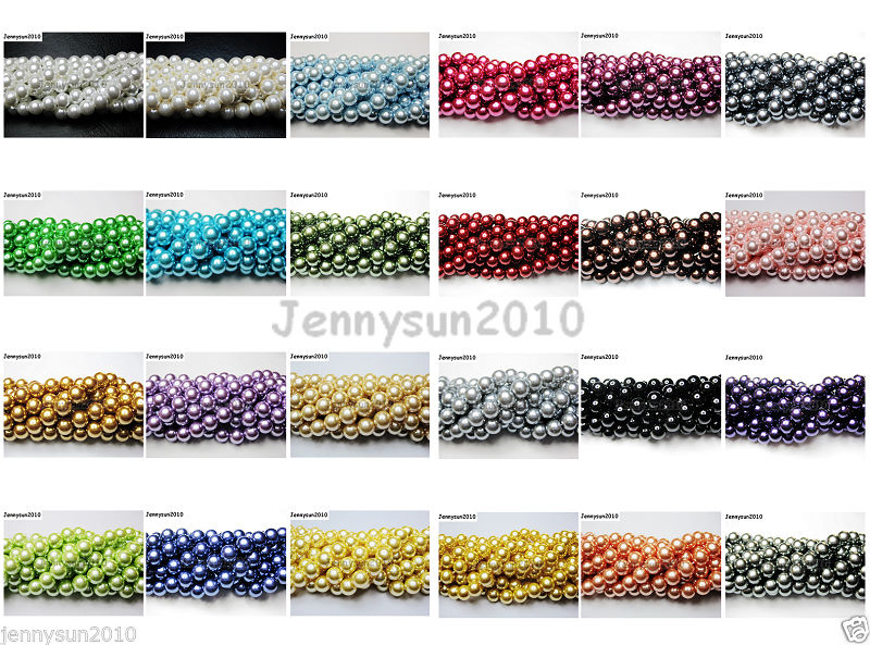 100 pcs x Glass Pearl 8mm Round Beads #73A AppleGreen