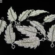 10Pcs-Curved-Side-Ways-Crystal-Rhinestones-Leaf-Bracelet-Connector-Charm-Beads-281199570414-6b0c