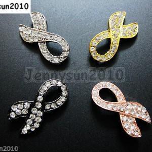 10pcs-Crystal-Rhinestones-Ribbon-Breast-Cancer-Bracelet-Connector-Charm-Beads-261217847247
