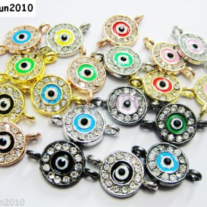 10pcs-Crystal-Rhinestones-Round-Evil-Eye-Bracelet-Connector-Charm-Beads-Pick-281107732172