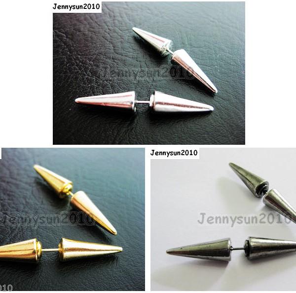 1Pair-Hot-Spike-Metal-Ear-Tunnel-Stud-Earrings-40mm-Pick-Colors-261021681543