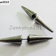 1Pair-Hot-Spike-Metal-Ear-Tunnel-Stud-Earrings-40mm-Pick-Colors-261021681543-89f6