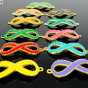 20Pcs-Colorful-Smooth-Metal-Big-Infinity-Bracelet-Connector-Charm-Beads-Mixed-370849758959-2