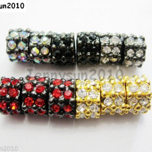 20pcs-Double-Row-Crystal-Rhinestones-Pave-Rondelle-Spacer-Beads-Pick-Color-251055332280