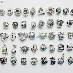50Pcs-Mixed-Big-Hole-Tibetan-Silver-Charm-Beads-Fit-European-Bracelet-Necklace-370837061328