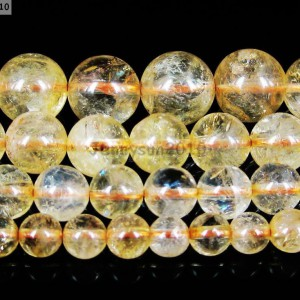 AAA-Natural-Citrine-Gemstone-Round-Loose-Beads-16-Strand-4mm-6mm-8mm-10mm-12mm-281212749669