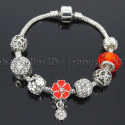 Big-Hole-Crystal-Charm-Beads-Fit-European-Charms-Bracelet-Jewerly-Chain-Silver-282113699406-2fb1