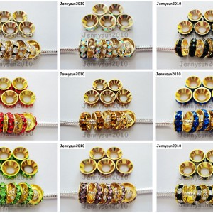 Big-Hole-Crystal-Rhinestones-Gold-Rondelle-Spacer-Beads-10mm-Fit-European-Charm-261050280538
