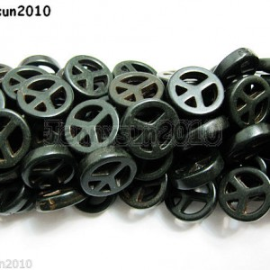 Black-Howlite-Turquoise-15mm-Carved-Peace-Sign-Spacer-Beads-155-Inches-Strand-281132978664