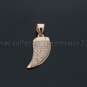 Clear-Zircon-Gemstone-Pave-Horn-Tusk-Tooth-Spike-Pendant-Charm-Beads-Silver-Gold-262799996677-2405