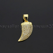 Clear-Zircon-Gemstone-Pave-Horn-Tusk-Tooth-Spike-Pendant-Charm-Beads-Silver-Gold-262799996677-3835