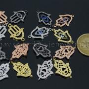 Clear-Zircon-Gemstones-Pave-Lucky-Eye-Hamsa-Hand-Bracelet-Connector-Charm-Beads-371825851684-2