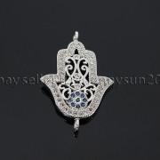 Clear-Zircon-Gemstones-Pave-Lucky-Eye-Hamsa-Hand-Bracelet-Connector-Charm-Beads-371825851684-357f