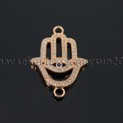 Clear-Zircon-Gemstones-Pave-Lucky-Eye-Hamsa-Hand-Bracelet-Connector-Charm-Beads-371825851684-378b