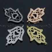 Clear-Zircon-Gemstones-Pave-Lucky-Eye-Hamsa-Hand-Bracelet-Connector-Charm-Beads-371825851684-5