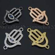 Clear-Zircon-Gemstones-Pave-Lucky-Eye-Hamsa-Hand-Bracelet-Connector-Charm-Beads-371825851684-6