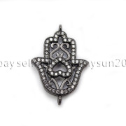 Clear-Zircon-Gemstones-Pave-Lucky-Eye-Hamsa-Hand-Bracelet-Connector-Charm-Beads-371825851684-735a