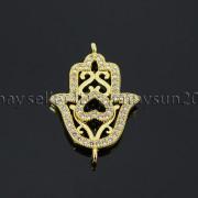 Clear-Zircon-Gemstones-Pave-Lucky-Eye-Hamsa-Hand-Bracelet-Connector-Charm-Beads-371825851684-775e
