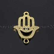 Clear-Zircon-Gemstones-Pave-Lucky-Eye-Hamsa-Hand-Bracelet-Connector-Charm-Beads-371825851684-7a41