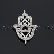 Clear-Zircon-Gemstones-Pave-Lucky-Eye-Hamsa-Hand-Bracelet-Connector-Charm-Beads-371825851684-8345
