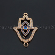 Clear-Zircon-Gemstones-Pave-Lucky-Eye-Hamsa-Hand-Bracelet-Connector-Charm-Beads-371825851684-90ba