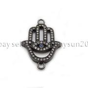 Clear-Zircon-Gemstones-Pave-Lucky-Eye-Hamsa-Hand-Bracelet-Connector-Charm-Beads-371825851684-ad6b