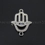 Clear-Zircon-Gemstones-Pave-Lucky-Eye-Hamsa-Hand-Bracelet-Connector-Charm-Beads-371825851684-b753